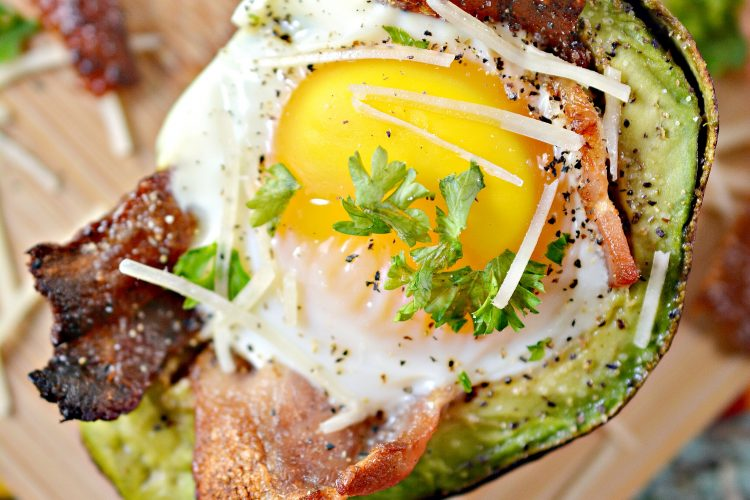 bacon and egg avocado cups