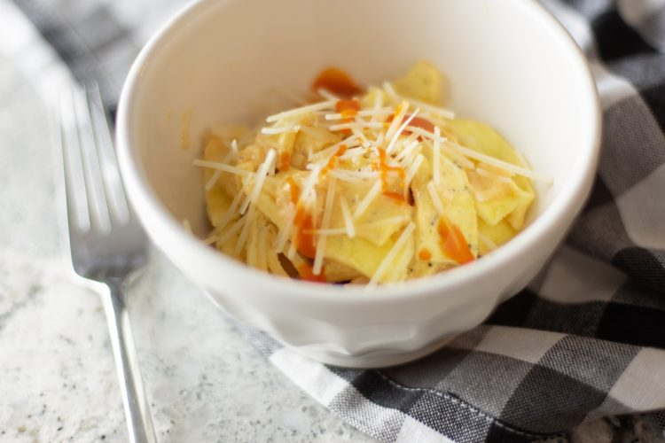 buffalo pasta - keto and low carb recipe that is egg fast approved