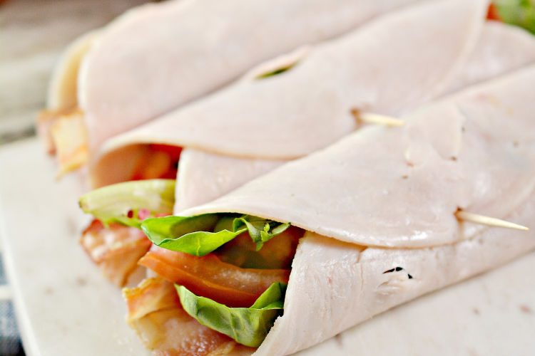 keto and low carb blt turkey wrap