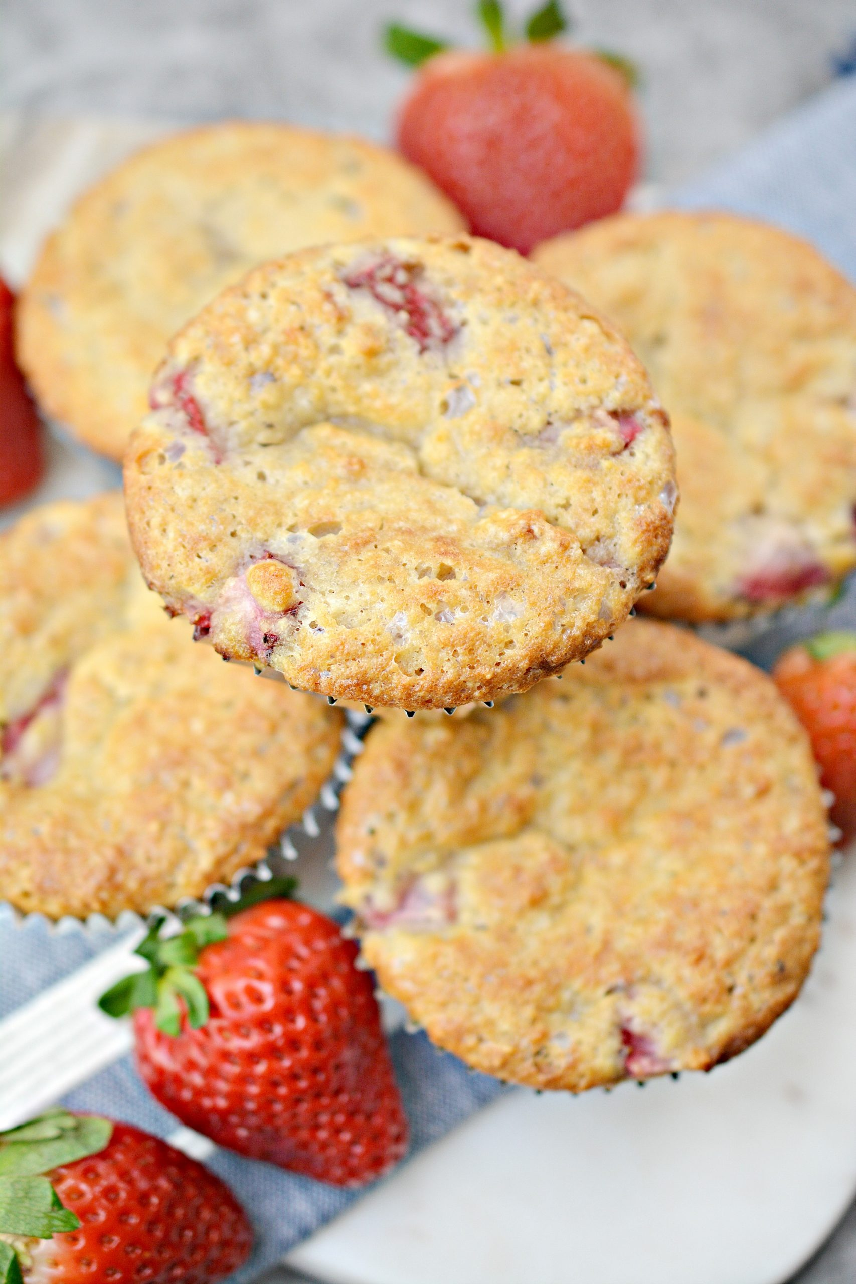 Low carb strawberry muffin recipe.
