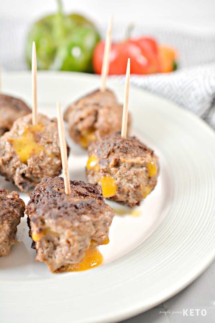 keto stuffed taco meatballs recipe